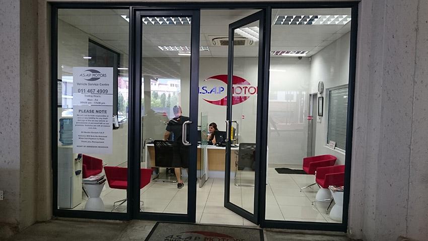 asap motors entrance