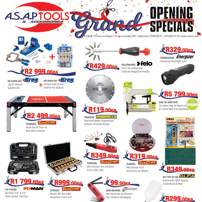 ASAP Tools Grand Opening in fourways